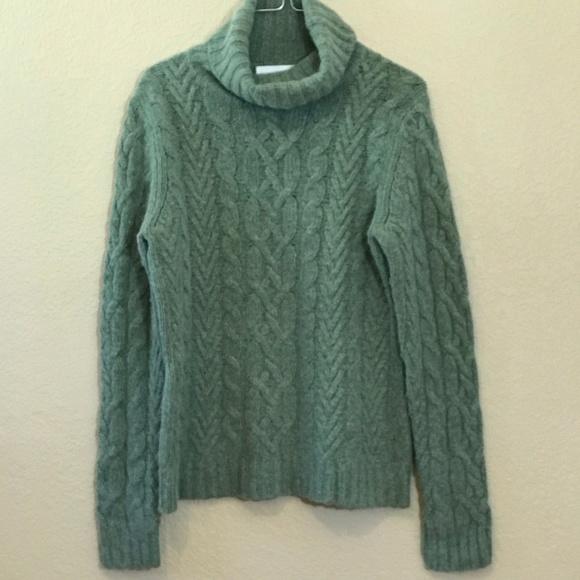 e46918c8e60 Lucy & Laurel Sz L Cable Knit Turtleneck Sweater